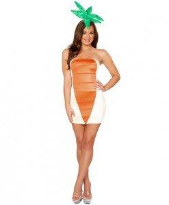 R314 Costum Halloween morcov - Altele - Haine > Haine Femei > Costume Tematice > Altele