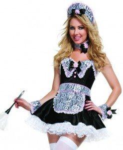 R315 Costum Halloween menajera sexi - Menajera - Haine > Haine Femei > Costume Tematice > Menajera