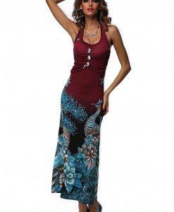 RV157-81 Rochie de vara cu model floral - Rochii de vara - Haine > Haine Femei > Rochii Femei  > Rochii de vara