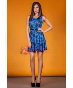 Rochie Blue Floral - Rochii///Rochii de seara - 0