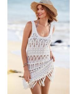 Rochii de plaja Crochet Tank - Rochii///Rochii de plaja - 0
