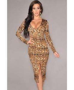 Rochita Leopard Slit - Rochii///Rochii sub 100 lei - 0