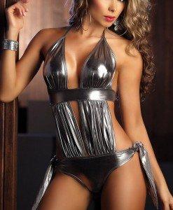S123-6 Costum body de animatie din vinil - Altele - Haine > Haine Femei > Costume latex si PVC > Altele