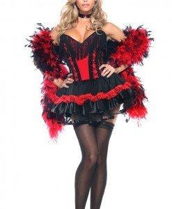 S211 Costum Halloween carnaval Can-Can - Altele - Haine > Haine Femei > Costume Tematice > Altele