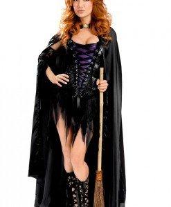 S301 Costum Halloween vrajitoare sexi - Vrajitoare - Vampir - Haine > Haine Femei > Costume Tematice > Vrajitoare - Vampir