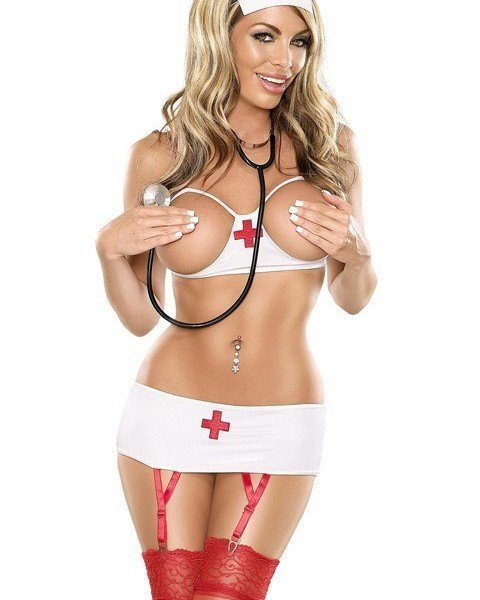 S93 Lenjerie asistenta medicala sexi – Asistenta Medicala – Haine > Haine Femei > Costume Tematice > Asistenta Medicala