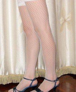 STK1 Ciorapi din plasa cu dantela - Ciorapi dama - Haine > Haine Femei > Ciorapi si manusi > Ciorapi dama