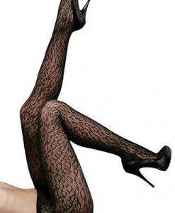 STK129-1 Ciorapi lungi model leopard - Ciorapi dama - Haine > Haine Femei > Ciorapi si manusi > Ciorapi dama