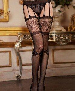 STK160-1 Ciorapi sexy cu model floral - Ciorapi dama - Haine > Haine Femei > Ciorapi si manusi > Ciorapi dama
