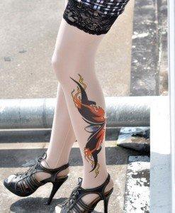 STK19 - Ciorapi cu Tatuaj - Ciorapi cu tatuaj - Haine > Haine Femei > Ciorapi si manusi > Ciorapi cu tatuaj