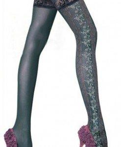 STK59 Ciorapi sexi cu model floral - Ciorapi dama - Haine > Haine Femei > Ciorapi si manusi > Ciorapi dama