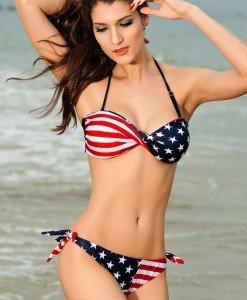 SW157 Costum de baie cu model USA - Costume de baie 2 piese - Haine > Haine Femei > Costume de baie > Costume de baie 2 piese