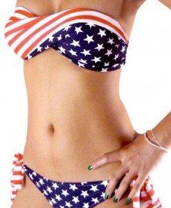 SW158 Costum de baie cu model USA - Costume de baie 2 piese - Haine > Haine Femei > Costume de baie > Costume de baie 2 piese