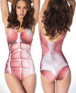 SW209 Costum de baie imitatie schelet - Costume de baie 2 piese - Haine > Haine Femei > Costume de baie > Costume de baie 2 piese