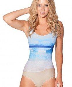 SW311 Costum de baie intreg cu model plaja - Costume de baie intregi - Haine > Haine Femei > Costume de baie > Costume de baie intregi