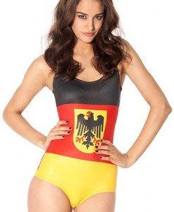 SW391 Costum de baie intreg cu steagul Germaniei si stema - Costume de baie intregi - Haine > Haine Femei > Costume de baie > Costume de baie intregi