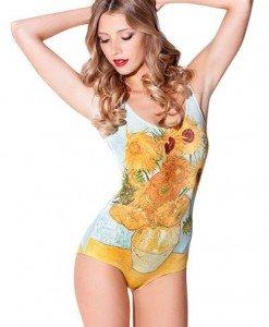 SW412 Costum de baie cu model floarea soarelui - Costume de baie intregi - Haine > Haine Femei > Costume de baie > Costume de baie intregi