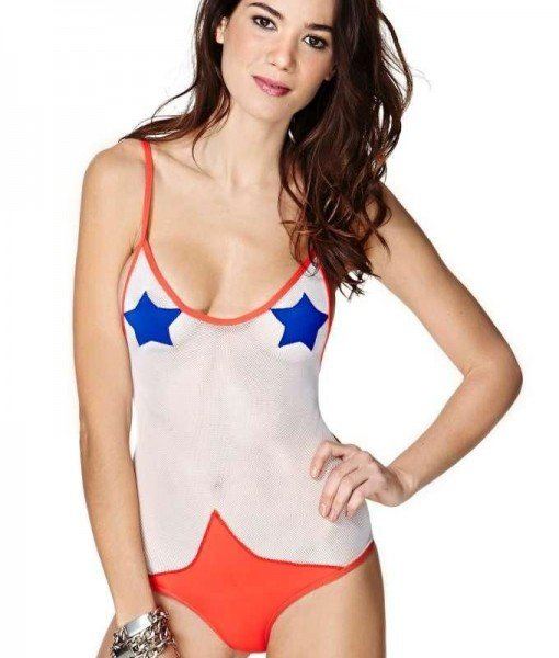SW637-2 Costum de baie sexi cu plasa