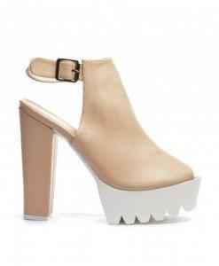 Sandale Alonzo Bej - Sandale cu toc - Sandale cu toc