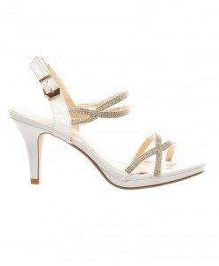 Sandale Alyda Albe - Sandale cu toc - Sandale cu toc
