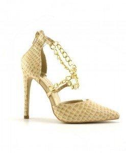 Sandale Ando Bej 2 - Sandale cu toc - Sandale cu toc