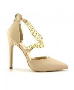 Sandale Ando Bej - Sandale cu toc - Sandale cu toc