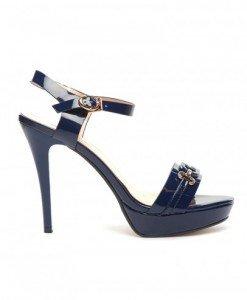 Sandale Angel Bleumarin - Sandale cu toc - Sandale cu toc
