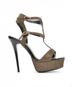 Sandale Anka Aurii - Sandale cu toc - Sandale cu toc