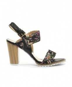 Sandale Anto Negre - Sandale cu toc - Sandale cu toc
