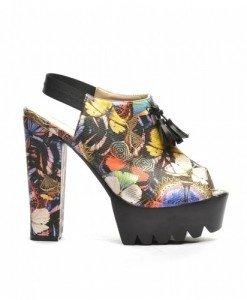 Sandale Asia Galbene - Sandale cu toc - Sandale cu toc