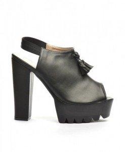 Sandale Asia Negre 2 - Sandale cu toc - Sandale cu toc