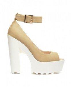 Sandale Bailando Bej - Sandale cu toc - Sandale cu toc