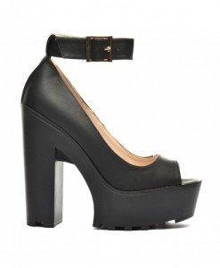 Sandale Bailando Negre - Sandale cu toc - Sandale cu toc