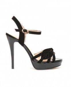 Sandale Balcic Negre 2 - Sandale cu toc - Sandale cu toc