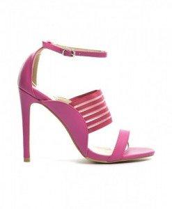 Sandale Bertana Fuchsia - Sandale cu toc - Sandale cu toc