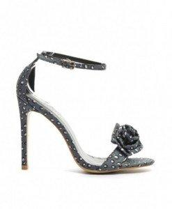 Sandale Bimarc Negre - Sandale cu toc - Sandale cu toc