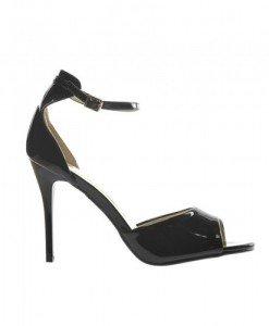 Sandale Bise Negre - Sandale cu toc - Sandale cu toc