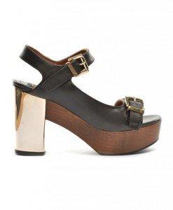 Sandale Borna Negre - Sandale cu toc - Sandale cu toc