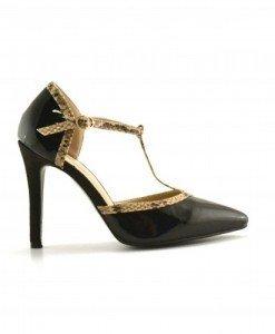 Sandale Borum Negre 2 - Sandale cu toc - Sandale cu toc