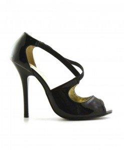 Sandale Caroline Negre - Sandale cu toc - Sandale cu toc