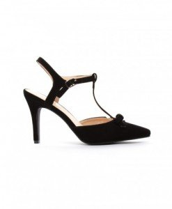 Sandale Corona Negre - Sandale cu toc - Sandale cu toc