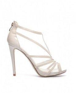 Sandale Cuzin Bej - Sandale cu toc - Sandale cu toc