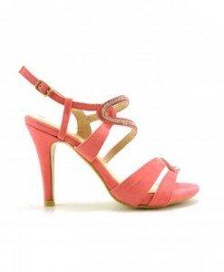 Sandale Danis Roz - Sandale cu toc - Sandale cu toc