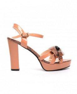 Sandale Dario Nude - Sandale cu toc - Sandale cu toc