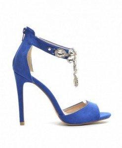 Sandale Dylema Albastre - Sandale cu toc - Sandale cu toc