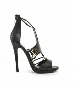 Sandale Egos Negre - Sandale cu toc - Sandale cu toc
