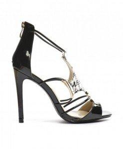 Sandale Elisia Negre 1 - Sandale cu toc - Sandale cu toc