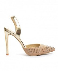 Sandale Fegro Bej - Sandale cu toc - Sandale cu toc