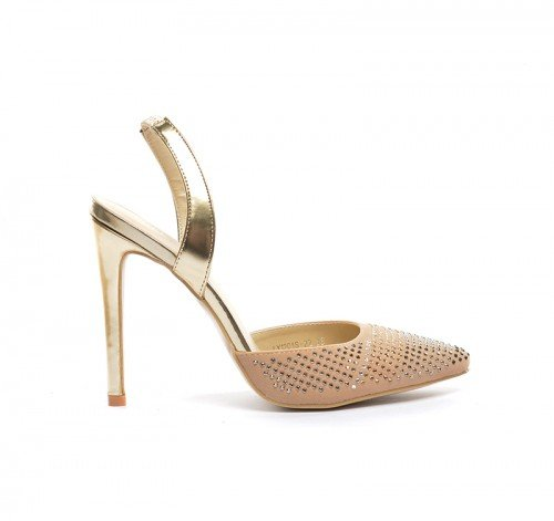 Sandale Fegro Bej – Sandale cu toc – Sandale cu toc
