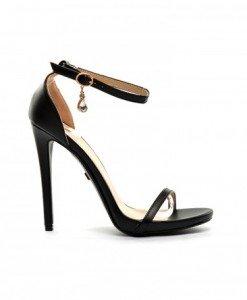 Sandale Forest Negre - Sandale cu toc - Sandale cu toc